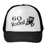 60 rocas (eje de balancín) gorros
