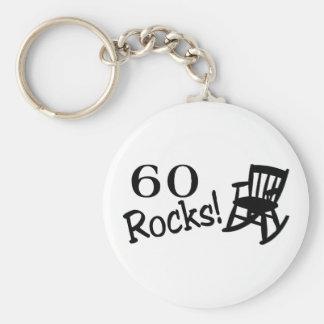 60 rocas (eje de balancín) llavero redondo tipo pin
