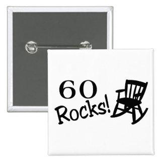 60 rocas (eje de balancín) pin cuadrado