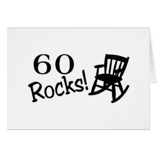 60 rocas (eje de balancín) tarjeta de felicitación
