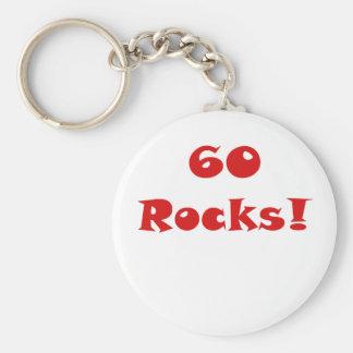60 Rocks Key Chains