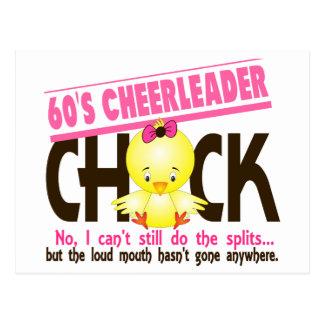 60's Cheerleader Chick Postcard