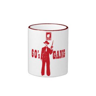 60 ' s-GANG (red) Ringer Mug