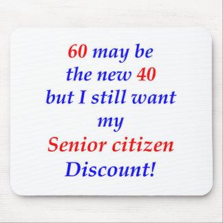 60 Senior Citizen Mouse Pad