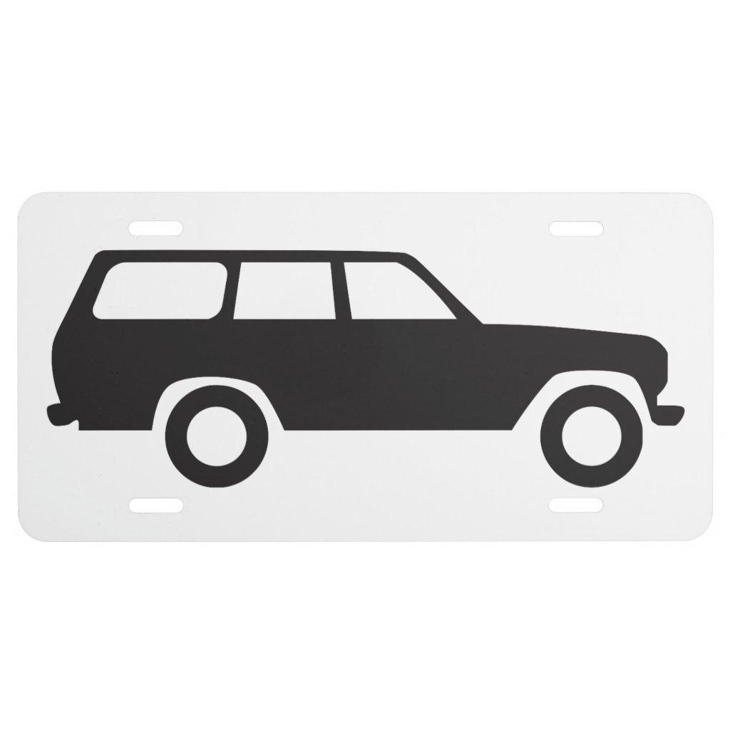60 Series Toyota Land Cruiser License Plate