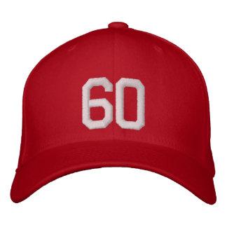 60 sesenta gorra de beisbol bordada