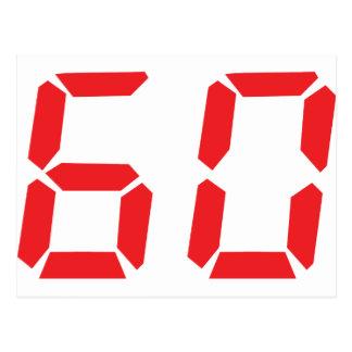 60 sesenta números digitales del despertador del r tarjetas postales