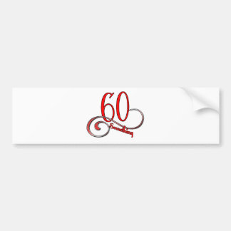 60 Something Bumper Sticker