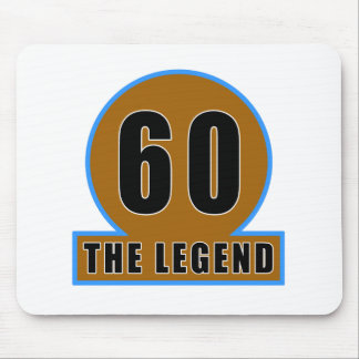 60 The Legend Birthday Designs Mousepad