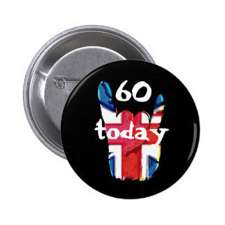 60 Today Union Jack Corna Badges 2 Inch Round Button