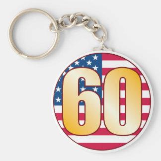 60 USA Gold Keychain