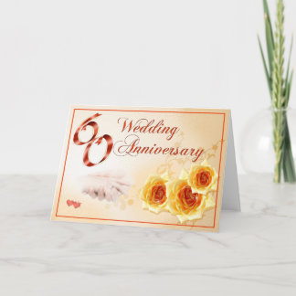 60 Wedding Anniversary Card