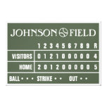"60"" x 40"" Baseball Scoreboard Wrapped Canvas Gallery Wrapped Canvas"