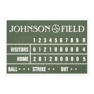 """60"""" x 40"""" marcador del béisbol envolvió la lona impresión en lienzo"""