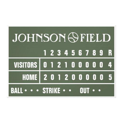 """60"""" x 40"""" marcador del béisbol envolvió la lona impresiones en lona"""