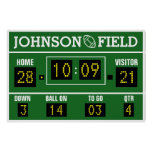 "60"" x 40"" Personalized Football Scoreboard Poster"