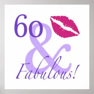 60 y fabuloso póster