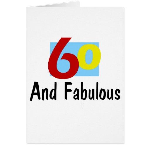 60 y fabuloso tarjeta de felicitación