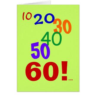 ¡60 y todavía el considerar - 60 a tarjeta de cum