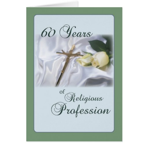 60 year anniversary for nun religious profession greeting