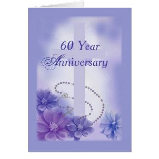 60 Year Anniversary Plum, Religious Card