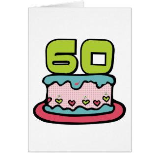 60 Year Old Birthday Cake Greeting Cards