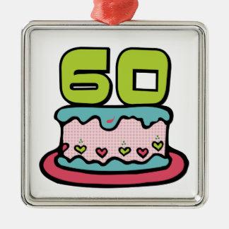 60 Year Old Birthday Cake Christmas Tree Ornaments