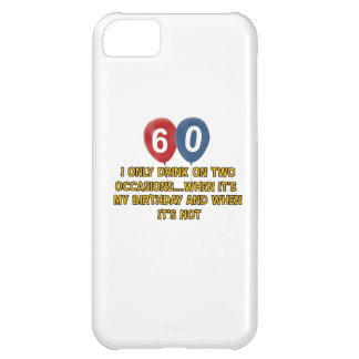 60 year old birthday designs iPhone 5C cases