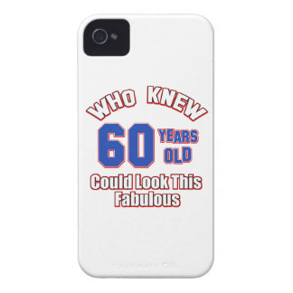 60 year old birthday designs Case-Mate iPhone 4 cases