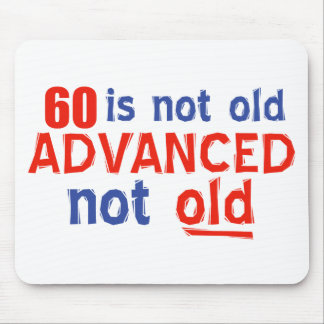 60 year old birthday designs mouse pads