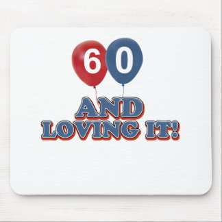 60 year old birthday designs mouse pad