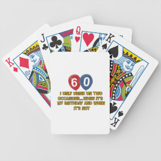 60 year old birthday designs playing cards