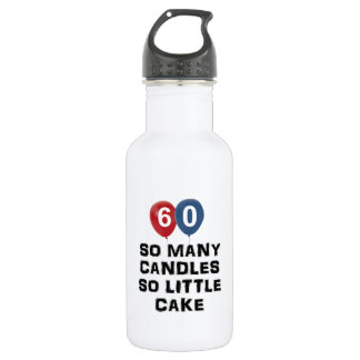 60 year old candle designs water bottle