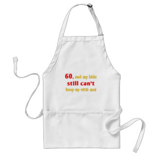 60 Year Old Gag Gift Adult Apron