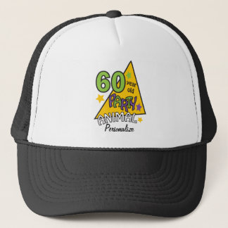 60 Year Old Party Animal | 60th Birthday  DIY Name Trucker Hat