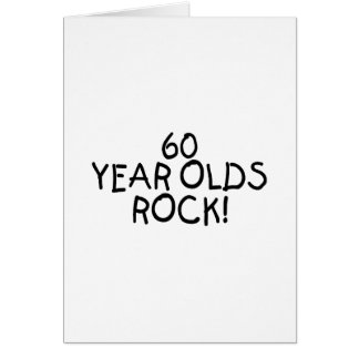 60 Year Olds Rock Card