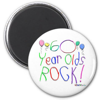 60 Year Olds Rock ! Refrigerator Magnets