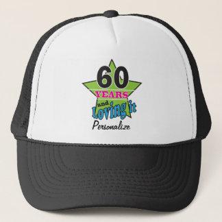 60 Years and Loving it | 60th Birthday | DIY Name Trucker Hat