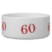 60 years anniversary bowl