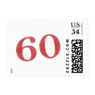 60 years anniversary postage stamp