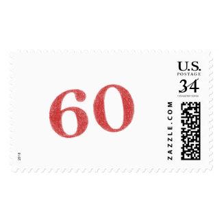 60 years anniversary stamp