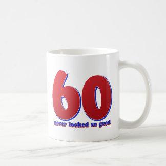 60 years classic white coffee mug