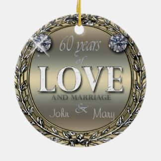 60 Years of Love Ceramic Ornament