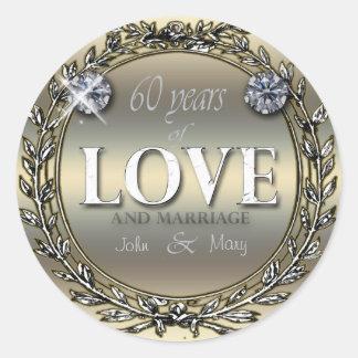 60 Years of Love Classic Round Sticker