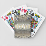 "60 Years of Love ID196 Bicycle Playing Cards<br><div class=""desc"">A scrollwork frame holds the text &#39;60 years of love and marriage&#39; and a template to enter the first names of the celebrating couple. The text is set off by images of two sparkling diamonds on a pale gradient background. Search &#39;ID196&#39; to see other anniversary years and additional products with...</div>"