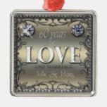 60 Years of Love ID196 Metal Ornament