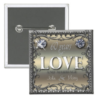 60 Years of Love ID196 Pinback Button