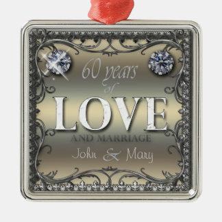 60 Years of Love Metal Ornament