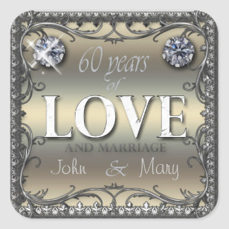 60 Years of Love Square Sticker