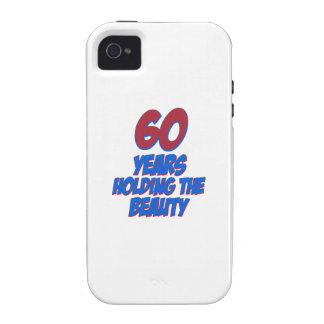 60 years old birthday designs Case-Mate iPhone 4 case